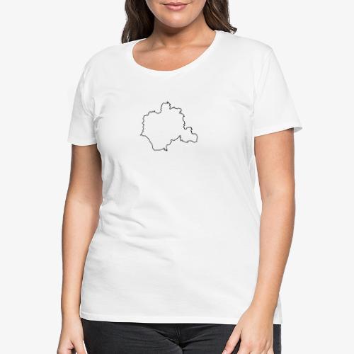 Kontur des Kreises Lippe - Frauen Premium T-Shirt