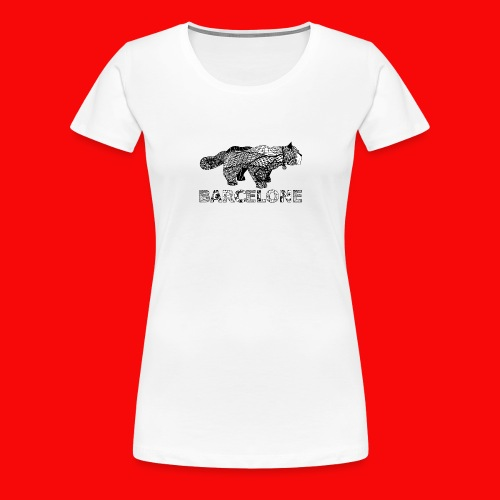 LOGO CAT RAVAL - T-shirt Premium Femme