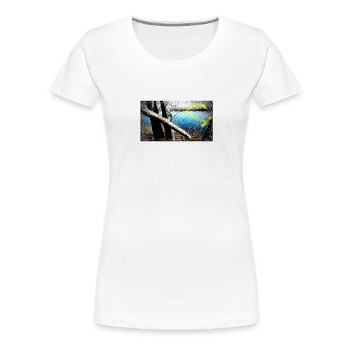Flotando en la laguna - Camiseta premium mujer