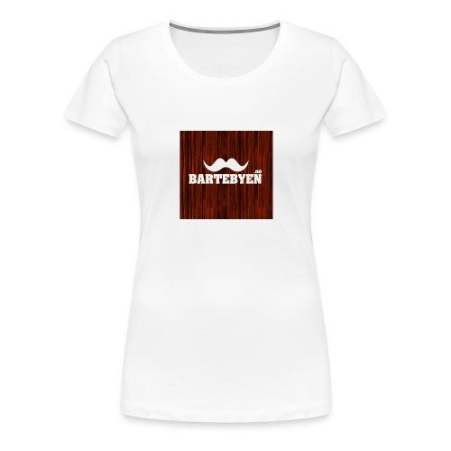 logo bartebyen buttons - Premium T-skjorte for kvinner