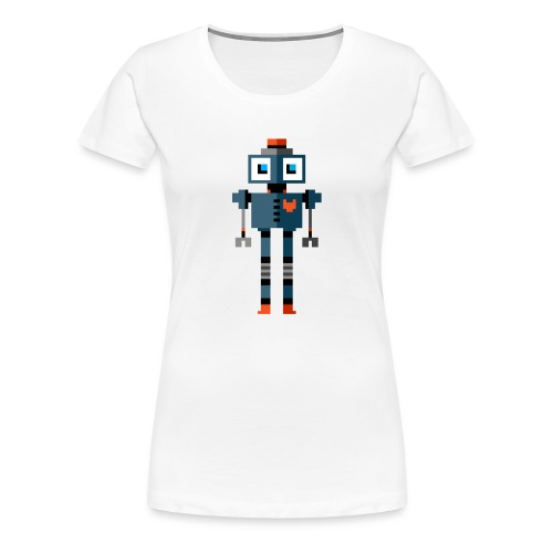 Blue Robot - Women's Premium T-Shirt