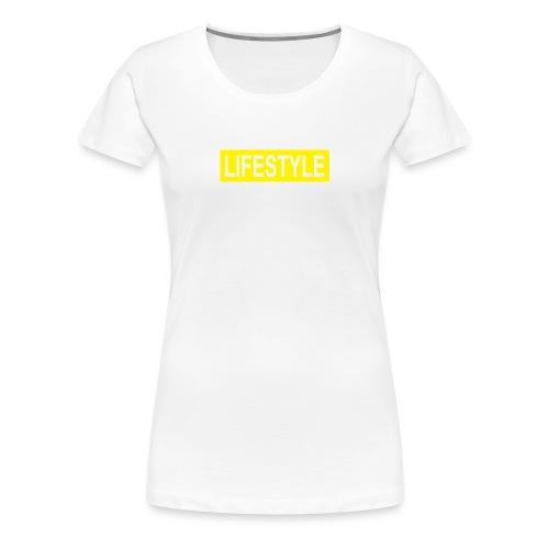 YELLOW LOGO - T-shirt Premium Femme