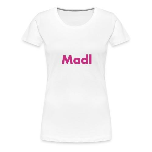 madl schwarz - Frauen Premium T-Shirt