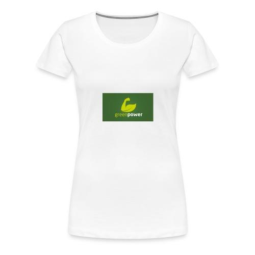 Green Power fitness logo - Women's Premium T-Shirt