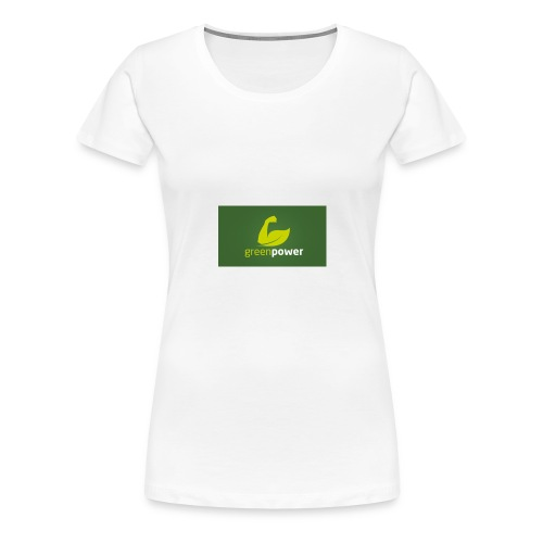 Green Power fitness logo - Women's Premium T-Shirt