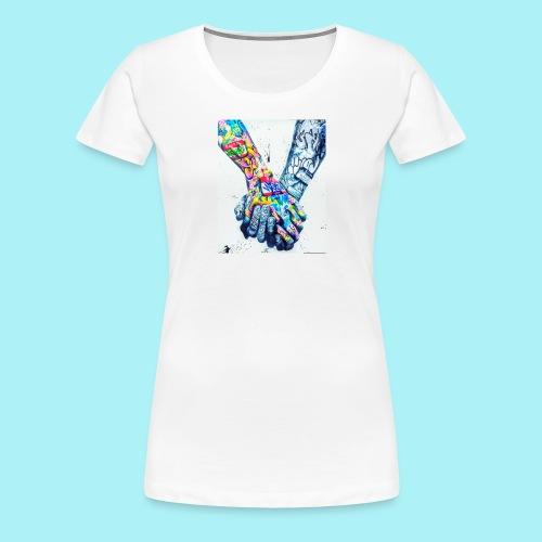 Main dans la main tatoués - T-shirt Premium Femme