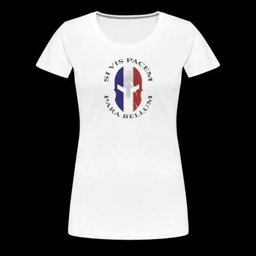 casque spartan si vis pacem03 - T-shirt Premium Femme