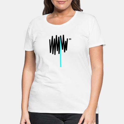 A-214 Scribble Cyan - Frauen Premium T-Shirt