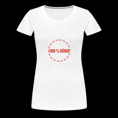 100% - T-shirt Premium Femme