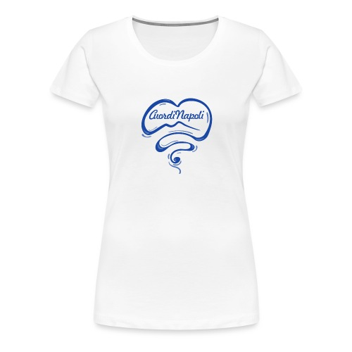 New Logo CuordiNapoli Blu - Maglietta Premium da donna