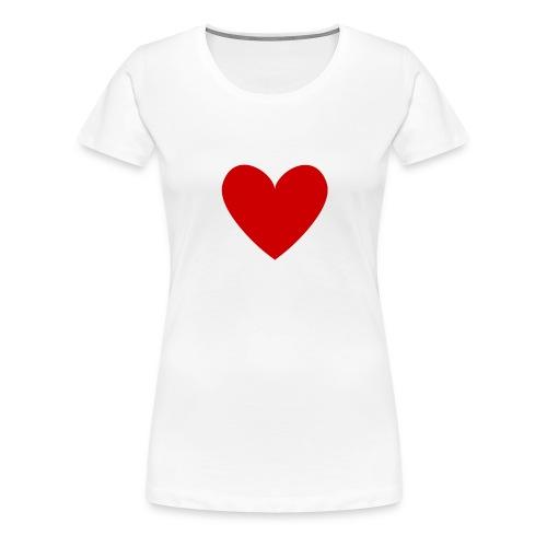 hart_normal_d - Vrouwen Premium T-shirt