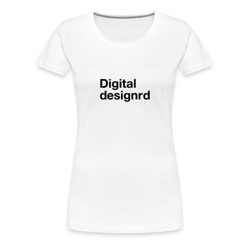 Digital designrd - Premium T-skjorte for kvinner
