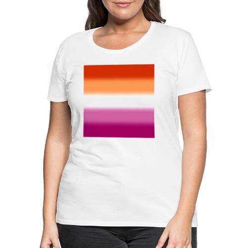 Verschwommene Lesben Flagge - Frauen Premium T-Shirt