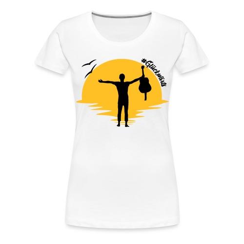 #Glückwärts Beach Edition - Frauen Premium T-Shirt