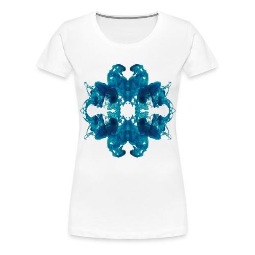 Tintenklecks unter Wasser - Frauen Premium T-Shirt