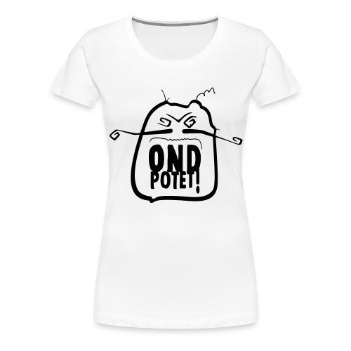 Original ondpotet logo variert - Premium T-skjorte for kvinner