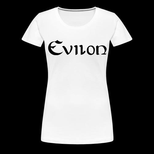 evilonsvart logga - Premium-T-shirt dam