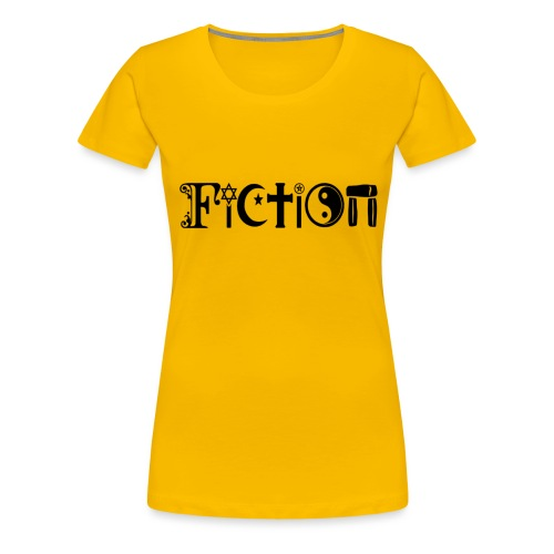 Fiction Schwarz - Frauen Premium T-Shirt