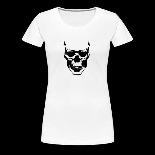 Skellet Kopf - Frauen Premium T-Shirt