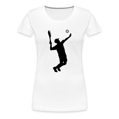 Tennisspieler Silhouette - Frauen Premium T-Shirt
