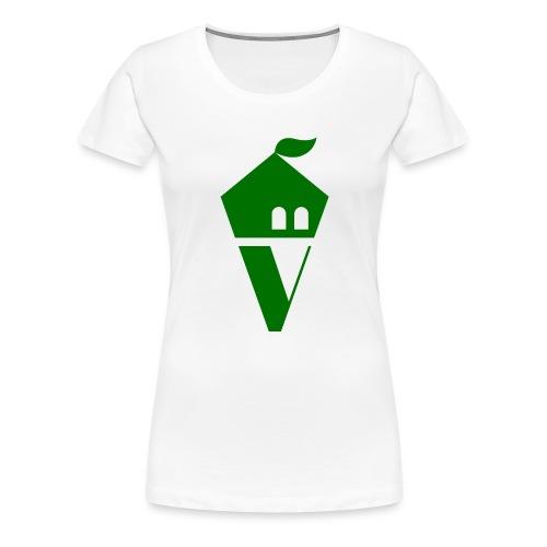 Villekula Logo in Grün auf Schwarz - Frauen Premium T-Shirt