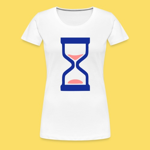 ⏳ ✦°•Hourglass-Sandglass vector design - Women's Premium T-Shirt