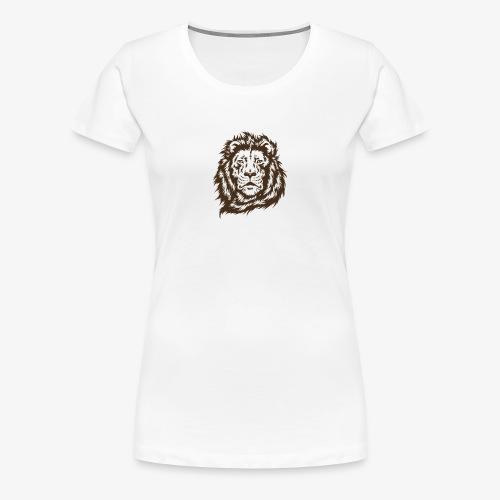 faccia leone - Maglietta Premium da donna