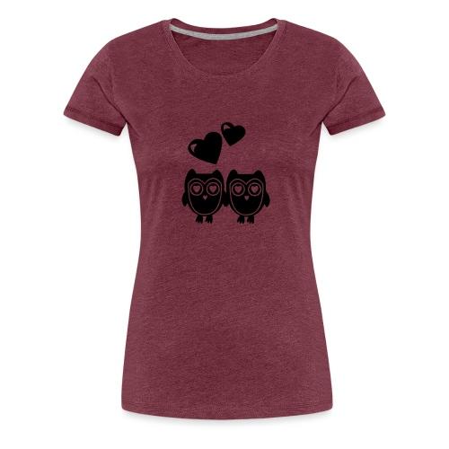 verliebte Eulen - Frauen Premium T-Shirt