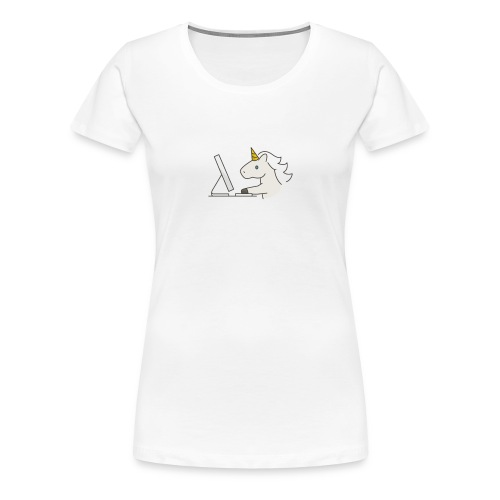 Unicorn Work - Women's Premium T-Shirt