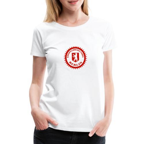 Logo in Rot Weiß - Frauen Premium T-Shirt