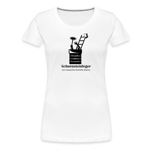 Schornsteinfeger im Kamin - Frauen Premium T-Shirt