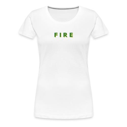 Fire - Dame premium T-shirt