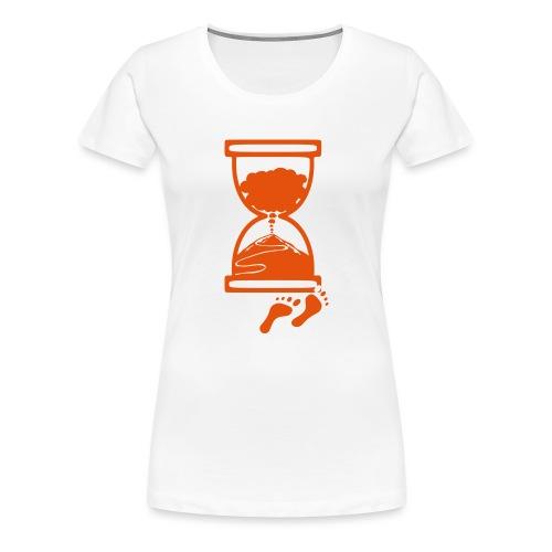 Tracciato logo facciotardi vettoriale con sfondo - Maglietta Premium da donna