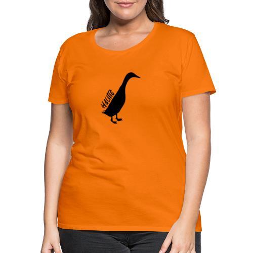 halitic Runnerduck Black - Frauen Premium T-Shirt