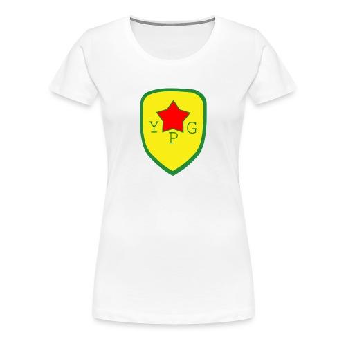 Unisex Red YPG Support Hoodie - Naisten premium t-paita