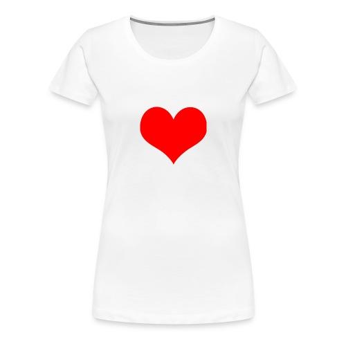 rotes Herz - Frauen Premium T-Shirt