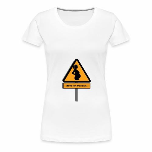 zone_travaux - T-shirt Premium Femme