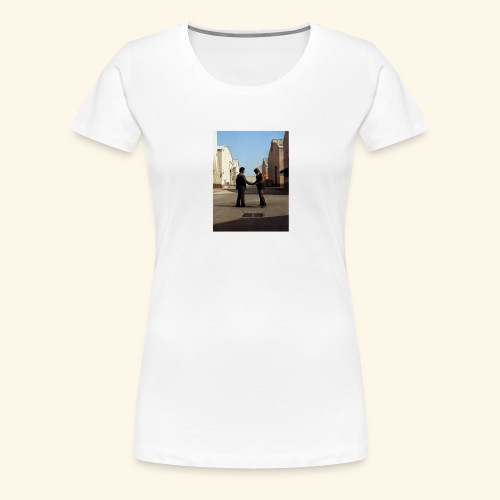 wish you were here design - Vrouwen Premium T-shirt