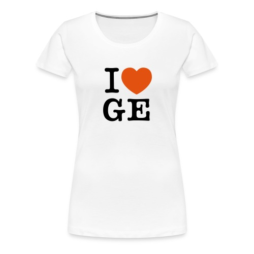 I Love Ge - Frauen Premium T-Shirt