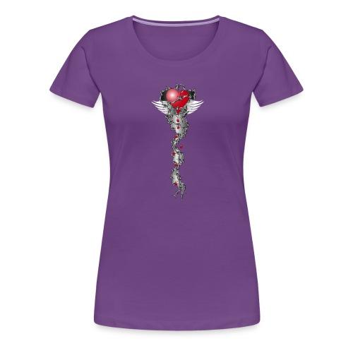 Barbwired Heart 2 - Herz in Stacheldraht - Frauen Premium T-Shirt
