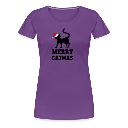 Merry Catmas - Silhouette - Frauen Premium T-Shirt