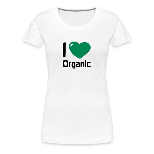I love Organic - Frauen Premium T-Shirt