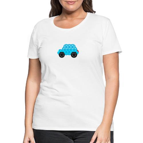 The Car Of Life - 01, Sacred Shapes, L/Blue. - Women's Premium T-Shirt