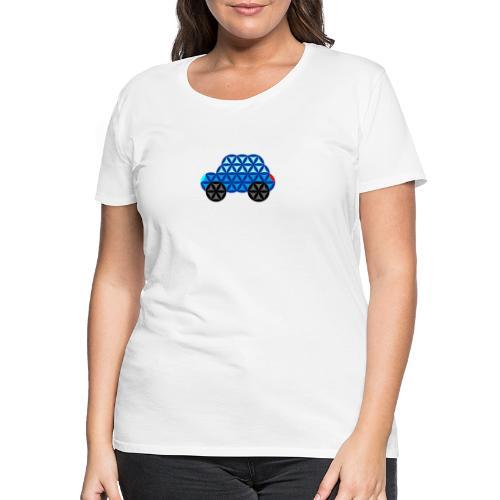 The Car Of Life - 01, Sacred Shapes, Blue. - Women's Premium T-Shirt