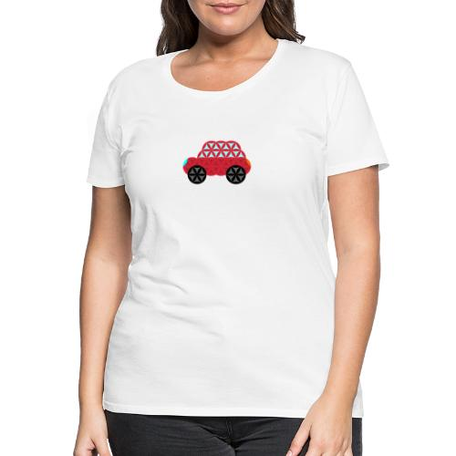 The Car Of Life - M01, Sacred Shapes, Red/186 - Women's Premium T-Shirt