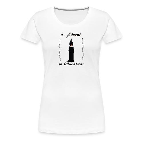 1 Advent Weihnachtsshirt winter design - Frauen Premium T-Shirt