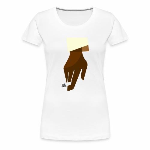 Hand mit Kippe - Frauen Premium T-Shirt