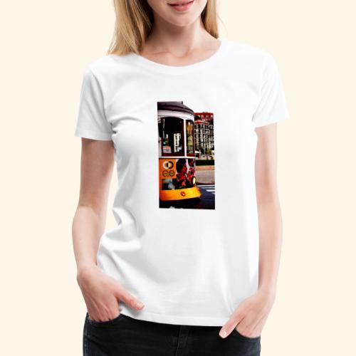 Scorcio tram colorato - Maglietta Premium da donna