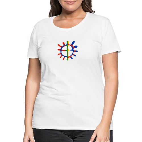 Samisk sol - Premium T-skjorte for kvinner