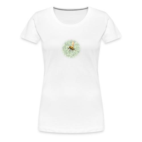 biene mit pflanze - Frauen Premium T-Shirt